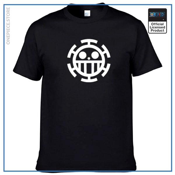 One Piece Shirt  Law Jolly Roger OP1505 Black / S Official One Piece Merch
