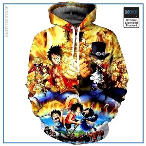 One Piece Hoodie  Luffy & Ace & Sabo OP1505 S Official One Piece Merch