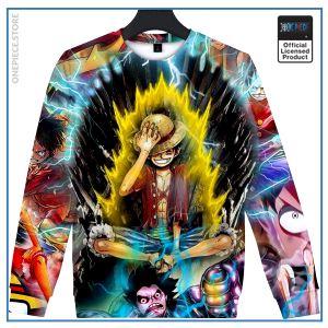 One Piece Sweater  Luffy Super Saiyan OP1505 S Official One Piece Merch