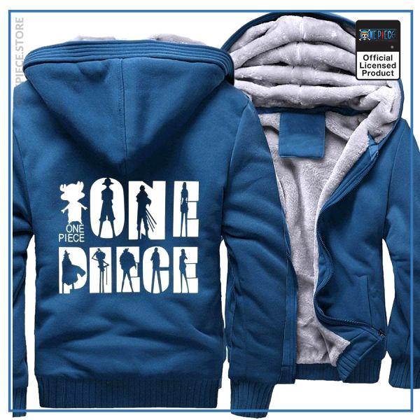 One Piece Jacket  Logo (Azure Blue) OP1505 M Official One Piece Merch