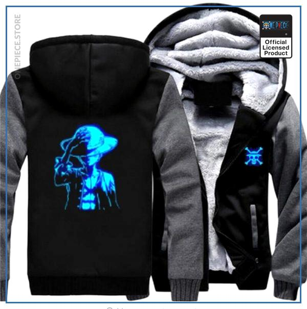 One Piece Jacket  Luffy LED (Grey & Black) OP1505 M Official One Piece Merch