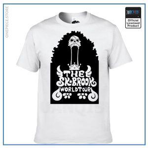 One Piece Shirt  Brook OP1505 White / S Official One Piece Merch
