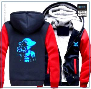 One Piece Jacket  Luffy LED (Red & Blue) OP1505 S Official One Piece Merch