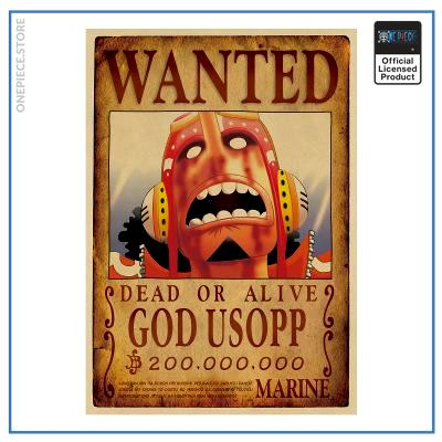 One Piece Wanted Poster  God Usopp Bounty OP1505 Default Title Official One Piece Merch