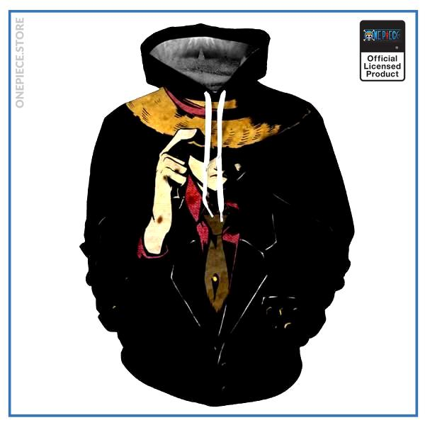 One Piece Hoodie  Serious Luffy OP1505 S Official One Piece Merch