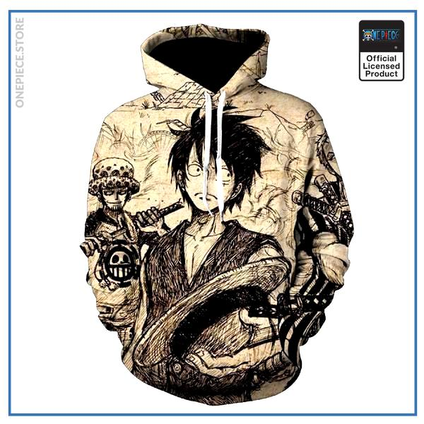 One Piece Hoodie  Vintage OP1505 S Official One Piece Merch