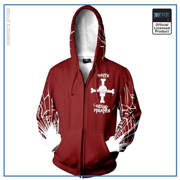 One Piece Hoodie  Whitebeard Pirates OP1505 S Official One Piece Merch