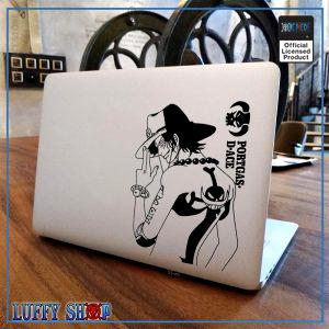 One Piece Laptop Sticker  Ace OP1505 Air 11 inch / Black Decal Official One Piece Merch