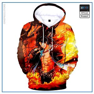 One Piece Hoodie  Ace Strong World OP1505 S Official One Piece Merch