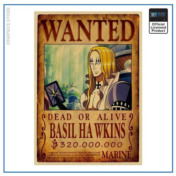 One Piece Wanted Poster  Basil Hawkins Bounty OP1505 Default Title Official One Piece Merch