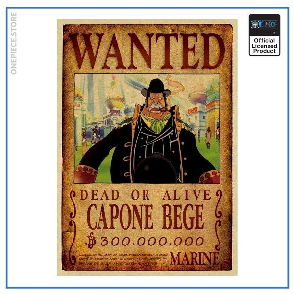 One Piece Wanted Poster  Capone Bege Bounty OP1505 Default Title Official One Piece Merch