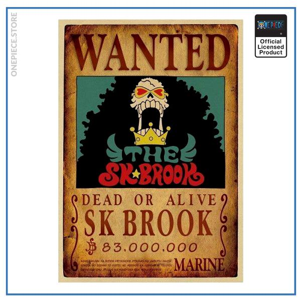 One Piece Wanted Poster  Brook Bounty OP1505 Default Title Official One Piece Merch