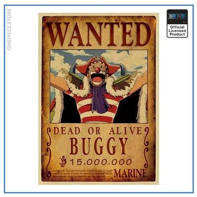 One Piece Wanted Poster  Buggy Bounty OP1505 Default Title Official One Piece Merch