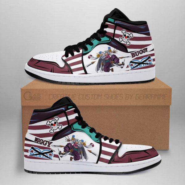 captain buggy jordan sneakers priates one piece anime shoes fan mn06 - One Piece Store