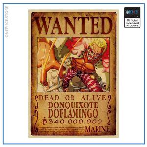 One Piece Wanted Poster  Doflamingo Bounty OP1505 Default Title Official One Piece Merch