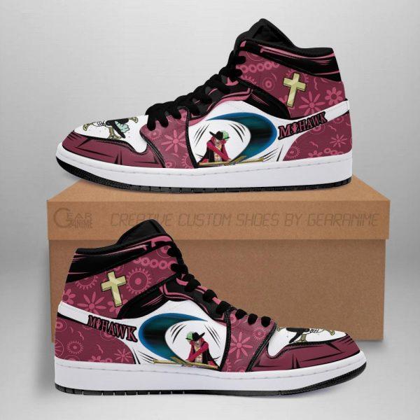dracule mihawk jordan sneakers one piece anime shoes fan gift mn06 - One Piece Store