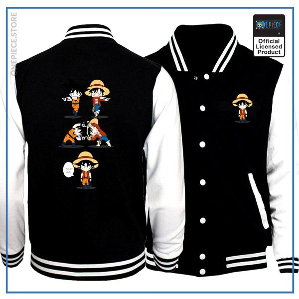 One Piece Varsity Jacket  Goku & Luffy Fusion OP1505 S Official One Piece Merch