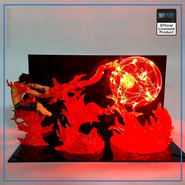 One Piece 3D Lamp  Fire Fist Ace OP1505 Default Title Official One Piece Merch
