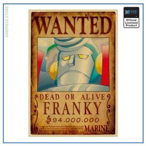 One Piece Wanted Poster  Cyborg Franky Bounty OP1505 Default Title Official One Piece Merch