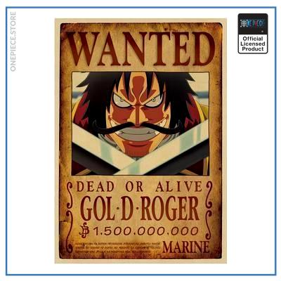 One Piece Wanted Poster  Gold Roger Bounty OP1505 Default Title Official One Piece Merch