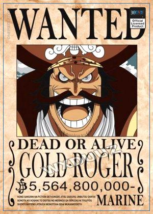 One Piece Wanted Poster  Gol D. Roger Bounty OP1505 21cm X 30cm Official One Piece Merch