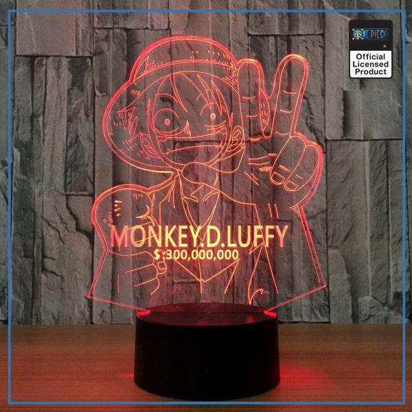 img 0 Japon une pi ce Luffy 7 couleur lampe 3D visuel LED veilleuses pour enfants cadeau tactile - One Piece Store
