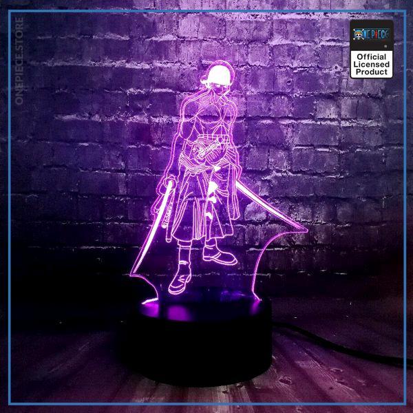 img 0 Th me anim en vogue une pi ce 3D Cool Roronoa Zoro nuit lampe LED 7 - One Piece Store