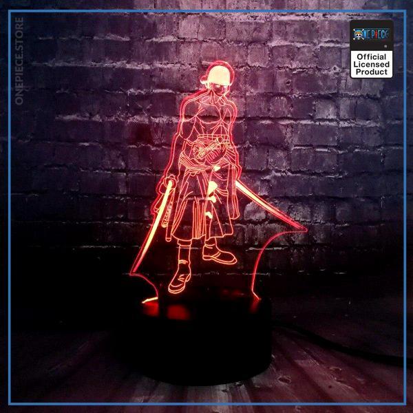 img 1 Th me anim en vogue une pi ce 3D Cool Roronoa Zoro nuit lampe LED 7 - One Piece Store