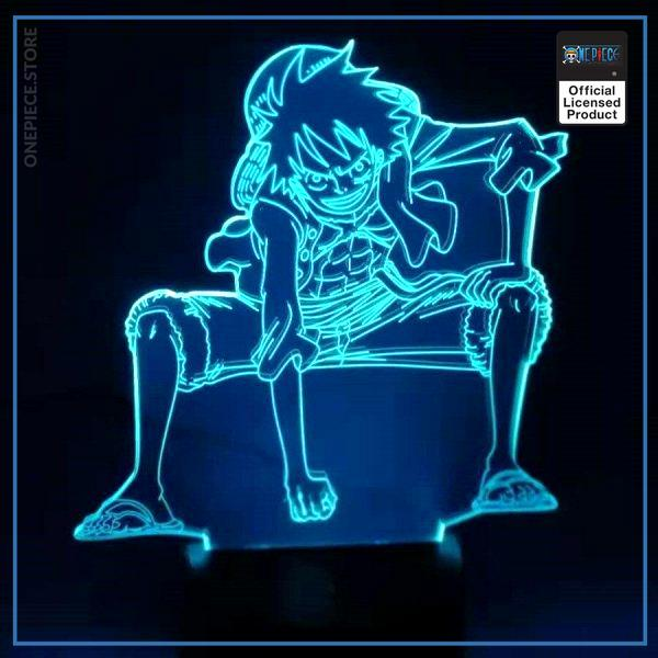 img 2 3D LED veilleuse Anime une pi ce Luffy lampe de Table USB 7 couleurs atmosph res - One Piece Store