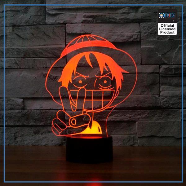 img 3 3D Luffy lampe de Table LED b b sommeil clairage color d grad Anime veilleuse chambre - One Piece Store