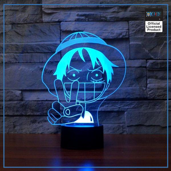 img 4 3D Luffy lampe de Table LED b b sommeil clairage color d grad Anime veilleuse chambre - One Piece Store