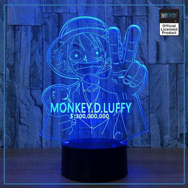 img 4 Japon une pi ce Luffy 7 couleur lampe 3D visuel LED veilleuses pour enfants cadeau tactile - One Piece Store