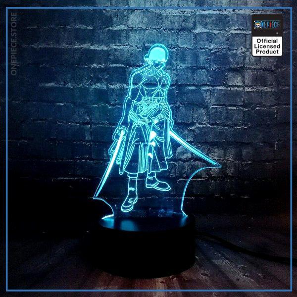 img 4 Th me anim en vogue une pi ce 3D Cool Roronoa Zoro nuit lampe LED 7 - One Piece Store