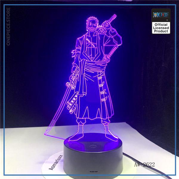 img 5 3D Led cr atif USB clairage d coratif Anime une pi ce forme tactile bouton lampe - One Piece Store