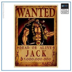 One Piece Wanted Poster  Jack Bounty OP1505 Default Title Official One Piece Merch