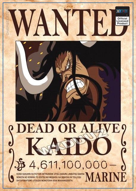 One Piece Wanted Poster  Kaido Bounty OP1505 21cm X 30cme Official One Piece Merch