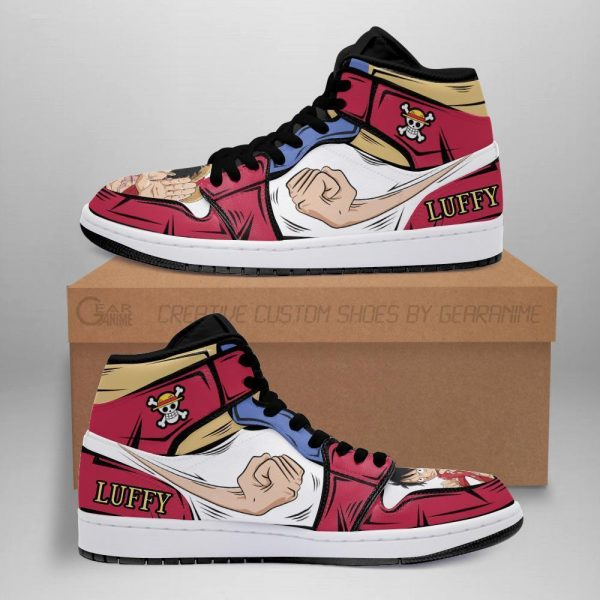 luffy jordan sneakers one piece anime shoes for fan mn06 - One Piece Store