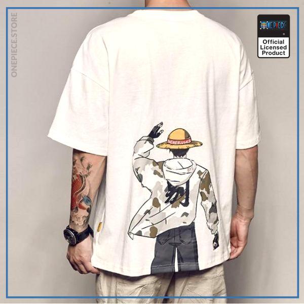 One Piece Shirt  Luffy Streetwear OP1505 White / S Official One Piece Merch