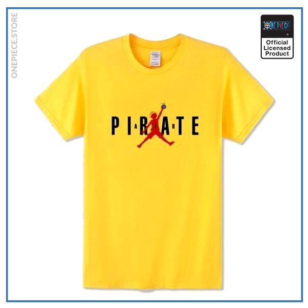 One Piece Shirt  Air Luffy OP1505 Yellow / S Official One Piece Merch