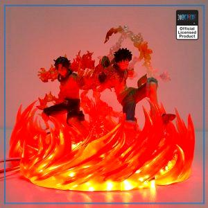 One Piece LED Lamp  Luffy and  Ace OP1505 Default Title Official One Piece Merch