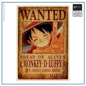 One Piece Wanted Poster  Luffy Bounty OP1505 Default Title Official One Piece Merch