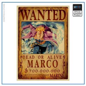 One Piece Wanted Poster  Marco Bounty OP1505 Default Title Official One Piece Merch