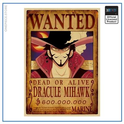 One Piece Wanted Poster  Dracule Mihawk Bounty OP1505 Default Title Official One Piece Merch