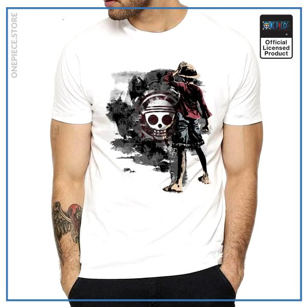 One Piece Shirt  Luffy Chinese Ink Style OP1505 S Official One Piece Merch