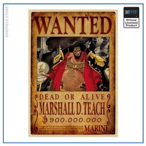 One Piece Wanted Poster  Blackbeard Bounty OP1505 Default Title Official One Piece Merch