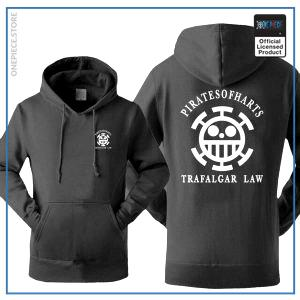 One Piece Hoodie  Pirates of Hearts OP1505 Black / S Official One Piece Merch