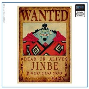 One Piece Wanted Poster  Jinbei Bounty OP1505 Default Title Official One Piece Merch