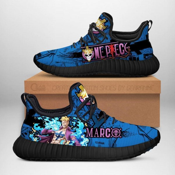 one piece marco reze shoes custom one piece anime sneakers - One Piece Store