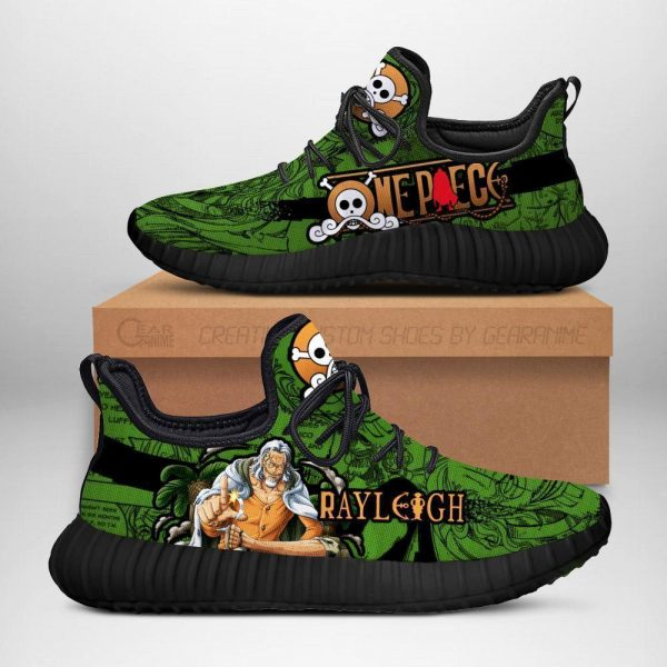 one piece rayleigh reze shoes custom one piece anime sneakers - One Piece Store