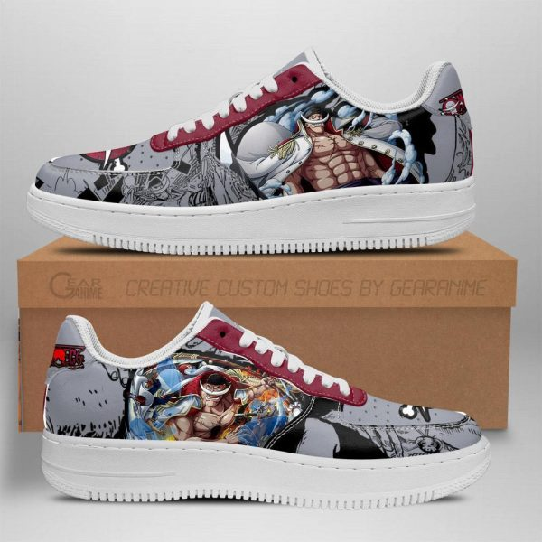 one piece whitebeard air force sneakers one piece anime shoes fan gift tt06 - One Piece Store